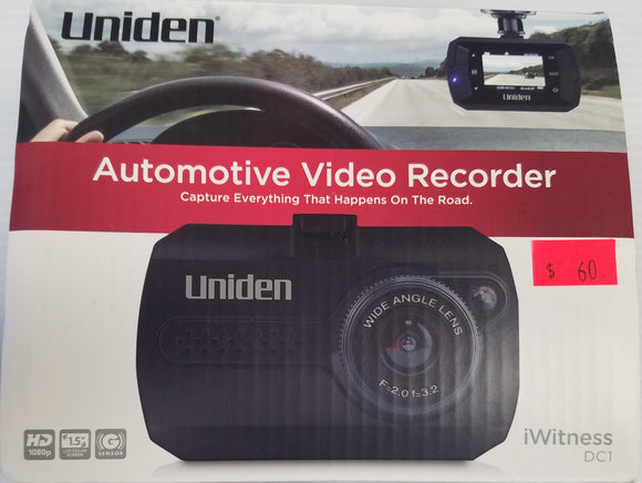 UNIDEN DC1 DC1 Full HD Dash Cam - New - Razzaks Computers - Great Products at Low Prices