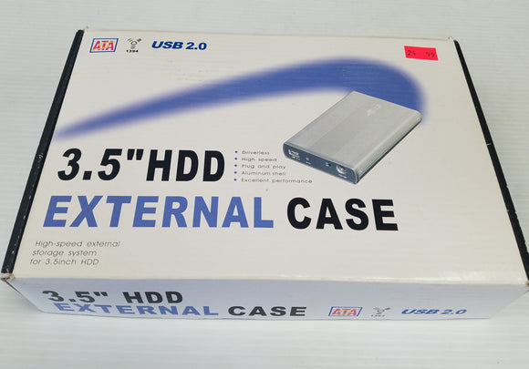 Power Data USB 2.0 External Case / Enclosure for 3.5