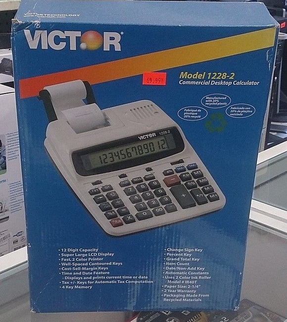 Victor® 1228-2 12-Digit Printing Calculator