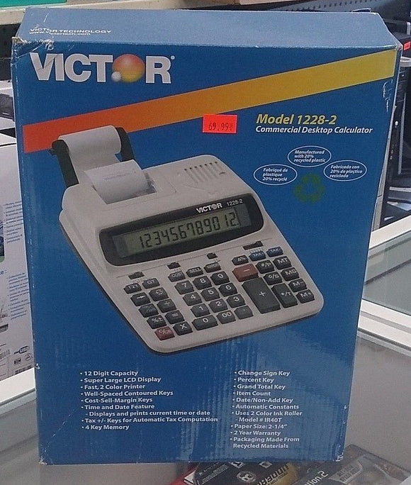 Victor Model 1208-2 Commercial Desktop Calculator - Razzaks Computers - Great Products at Low Prices