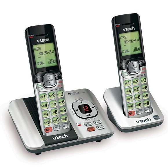 VTech DECT 6.0 Phone Answering System with Caller ID/Call Waiting, 2 Cordless Handsets