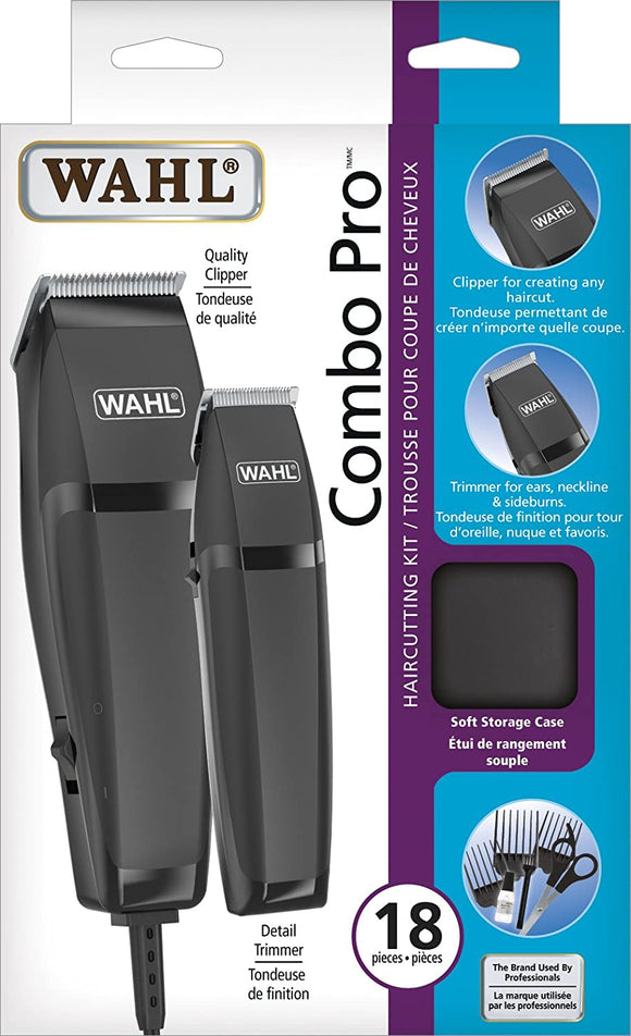 Wahl Combo Pro Haircutting kit, hair clipper, Trimming Kit, Certified for Canada, Model 3120 - Razzaks Computers - Great Products at Low Prices