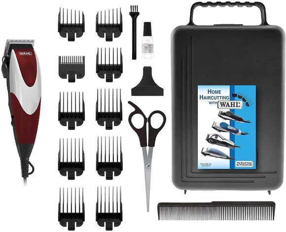Wahl HomePro Easty to Use 17-Piece Home Cut Haircut Kit, Hair Clipper, Hair Trimming Kit 3151