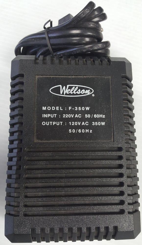 Wellson F-350W Voltage Converter 220/240V to 110/120V, 350 Watts - NEW