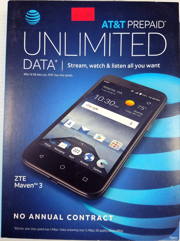 ZTE Maven-3, Z835Paygo, Android-7.1.1 4G LTE SmartPhone Black 5-inch LCD - Brand New - Razzaks Computers - Great Products at Low Prices
