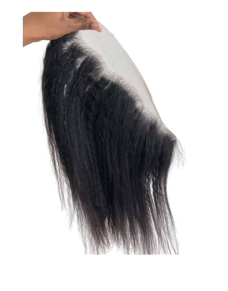 Luxe Kinky straight frontal - Swiss lace