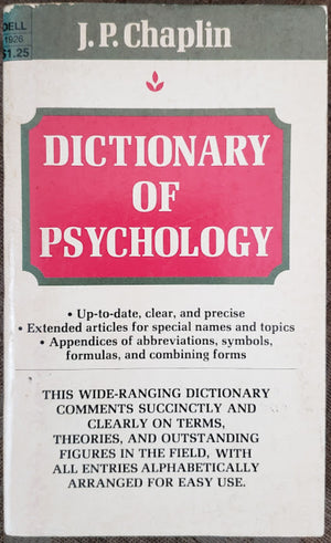 Dictionary of Psychology: J.P. Chaplin