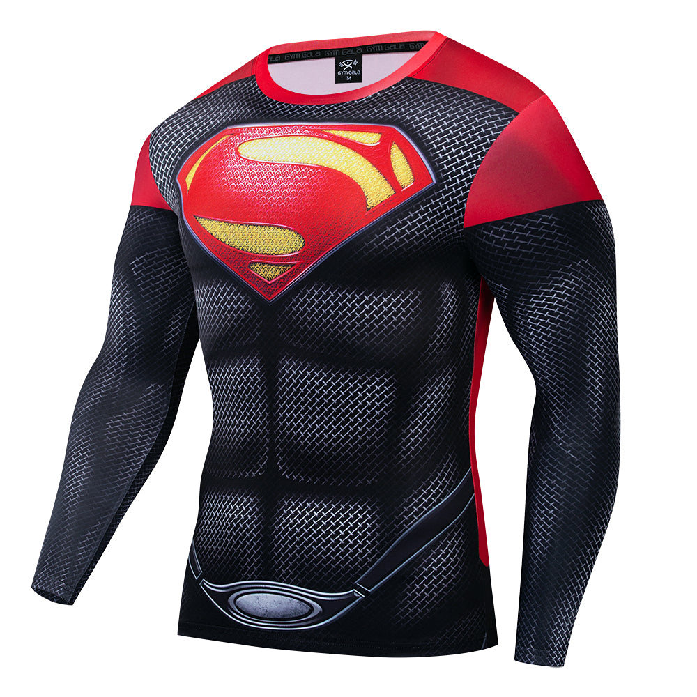 3D Printed tshirt Avengers Compression Shirt Chest Muscle Cool Sport Cloth Abdominal Visual Fast drying Long Sleeve GYM Shirt