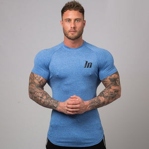 2019 Men's T-shirts Quick Dry Tight Fitness Running T shirts Men Brand Short Sleeve Gym Sport compression shirt Men's Sportswear
