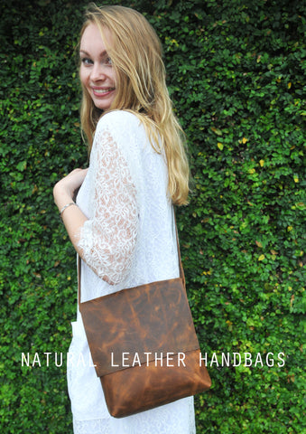 Natural Leather Handbags - understated style but with a clear signature of quality