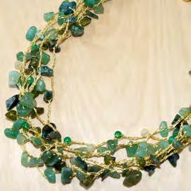 NF065/G - Aventurine with natural stone gold silk necklace
