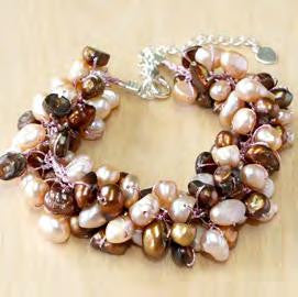Pink And Brown Freshwater Pearl Bracelet