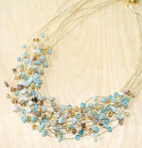 N0391/B5 - Maxi-cascade crystal necklace