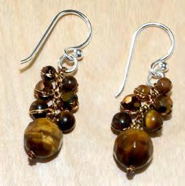 Tiger eye graduated earring