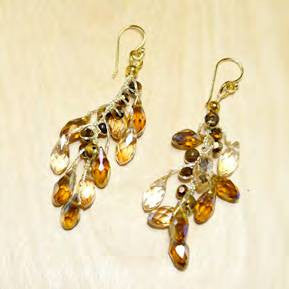 Amber Crystal Chandelier Earrings