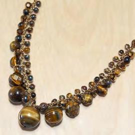 Tiger eye graduated necklace