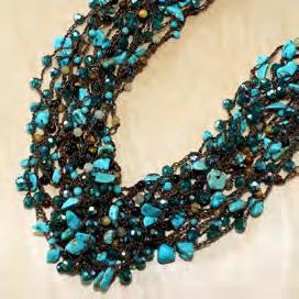 Turquoise and crystal shard necklace