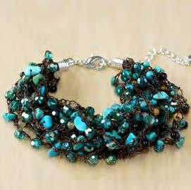 Turquoise with jasper and crystal bracelet
