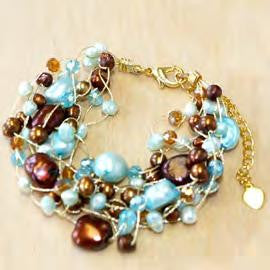 Turquoise, crystals bracelet