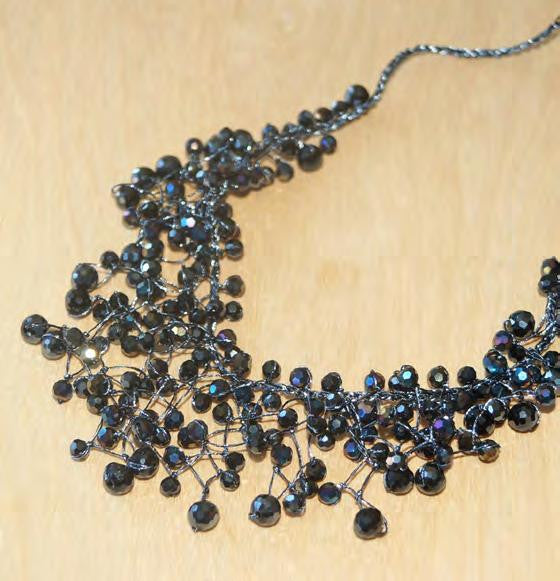 Black, Agate & Crystal Necklace