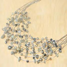 Maxi-cascade labradorite and crystal necklace