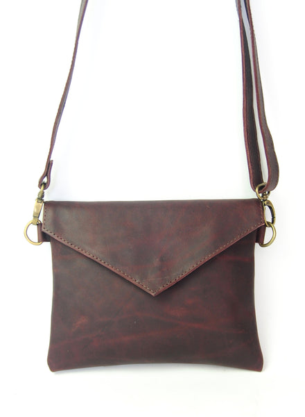 Envelope Bag - Natural Ox Blood - Allow 4-5 weeks for delivery