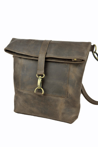 Workbench Shoulder Bag - Natural Dark Brown