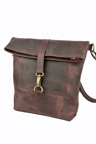 Workbench Shoulder Bag - Natural Oxblood - Allow 4-5 weeks for delivery