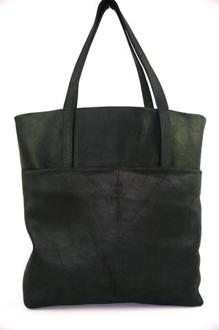 Black Leather Studio Tote Bag - Natural Black - Allow 4-5 weeks for delivery