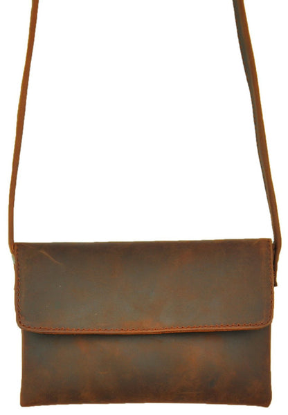Cross - Body Mini - Natural Dark Brown - Allow 4-5 weeks for delivery
