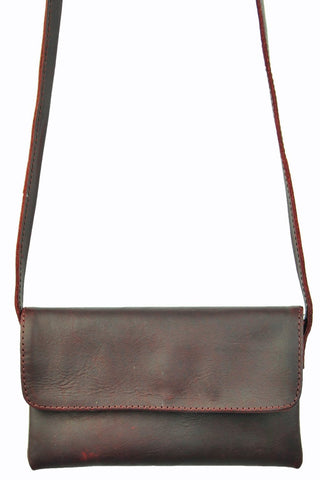 Cross - Body Mini - Natural Oxblood -  Allow 4-5 weeks for delivery