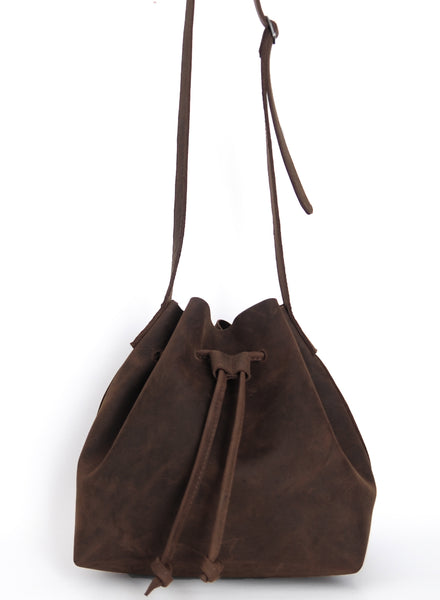 Natural Cut Shoulder Bag - Natural Dark Brown