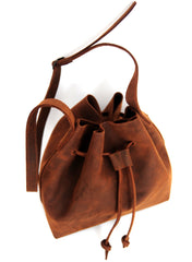 Natural Cut Shoulder Bag - Natural Medium Brown - Allow 4-5 weeks for delivery
