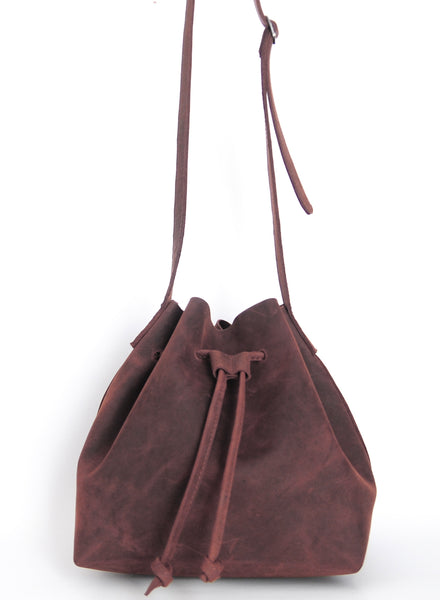 Natural Cut Shoulder Bag - Natural Oxblood - Allow 4-5 weeks for delivery