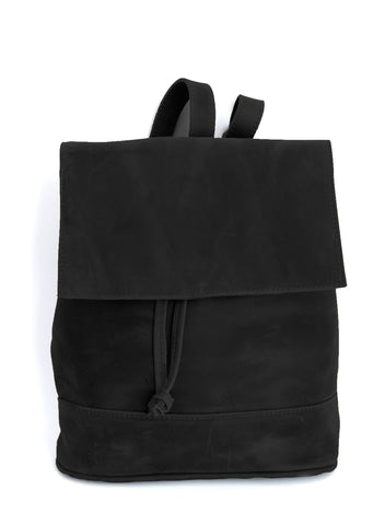 Convertible Black Leather Backpack - Natural Black - Allow 4-5 weeks for delivery