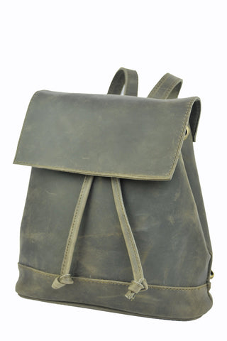 Convertible Black Leather BackPack - Natural Gray -  Allow 4-5 weeks for delivery