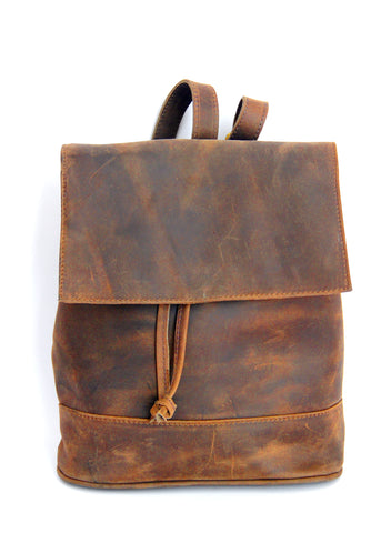 Convertible Black Leather BackPack - Natural Medium Brown - Allow 4-5 weeks for delivery