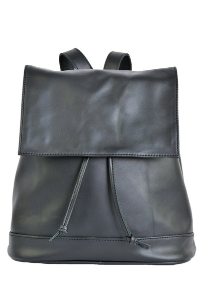 Convertible Black Leather BackPack - Soft Black -  Allow 4-5 weeks for delivery