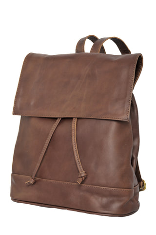 Convertible Black Leather Backpack - Soft Chocolate Brown -  Allow 4-5 weeks for delivery