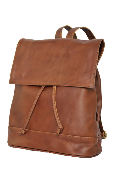 Convertible Black Leather Backpack - Soft Medium Brown -  Allow 4-5 weeks for delivery