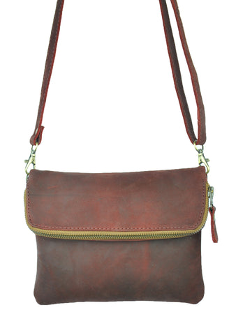 Saddle Bag Mini - Natural Oxblood -  Allow 4-5 weeks for delivery