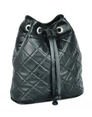 Turin Grid Shoulder Bag - Soft black - Allow 4-5 weeks for delivery