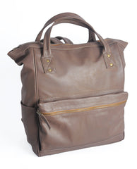 B321 - Weekend Backpack - Soft Dark Chocolate Brown - Allow 4-5 weeks for delivery