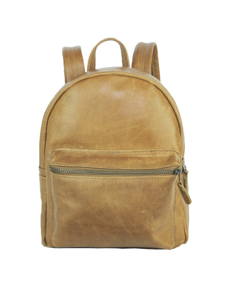 Beta Backpack - Medium - Soft Light Brown - Allow 4-5 weeks for delivery