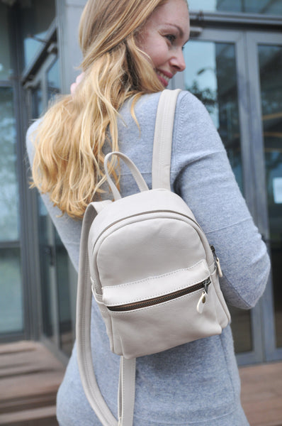 Beta Backpack - Medium - Soft Beige - Allow 4-5 weeks for delivery