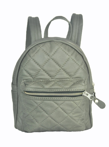 Turin Grid Backpack - Small - Soft Light Gray - Allow 4-5 weeks for delivery