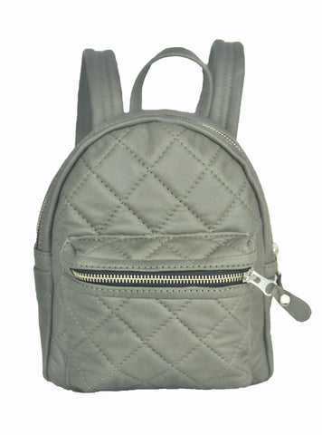 Turin Grid Backpack - Small - Soft Light Gray