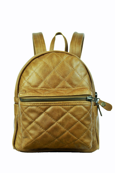 Turin Grid Backpack - Small - Soft Light Brown - Allow 4-5 weeks for delivery