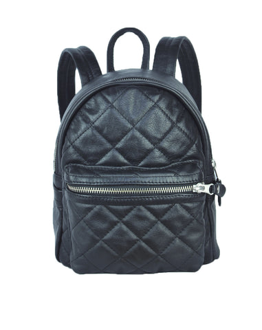 Turin Grid Backpack - Small - Soft Black - Allow 4-5 weeks for delivery