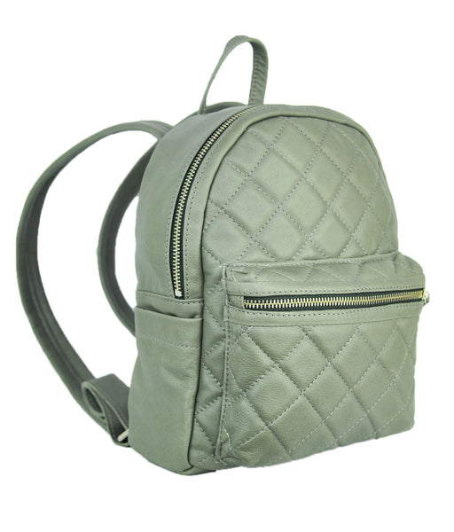 Turin Grid Backpack - Medium - Soft Light Gray - Allow 4-5 weeks for delivery